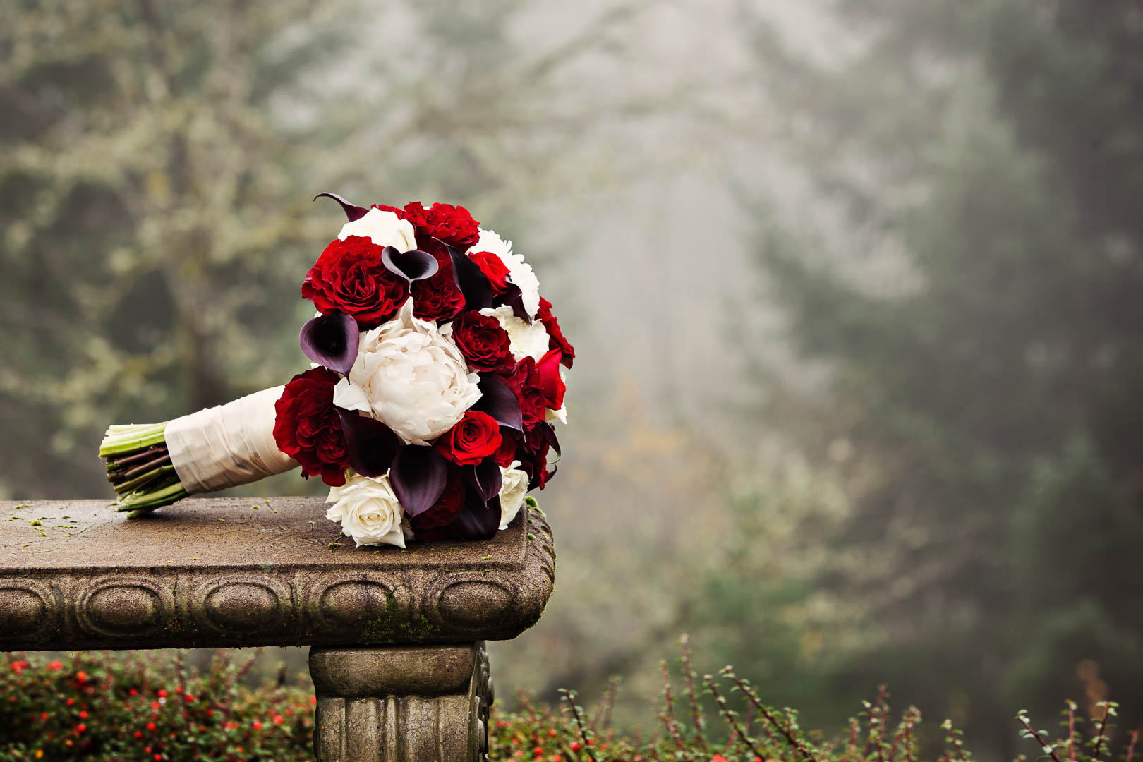 The Bridal Bouquet in the morning fog
